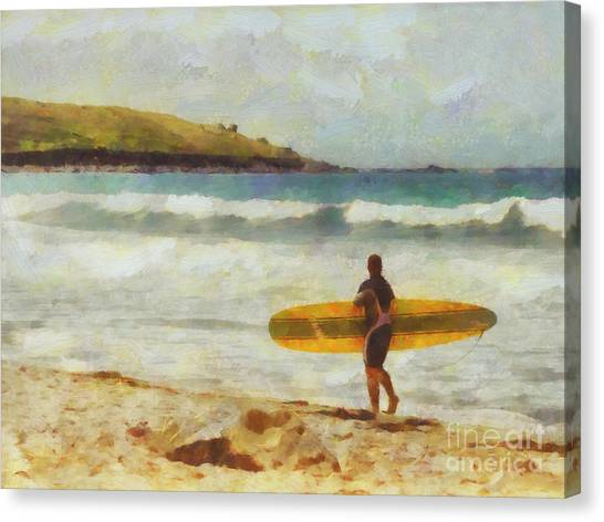 Surf Canvas Print - About To Surf by Pixel Chimp