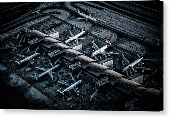 Airports Canvas Print - Above Lax by Andreas Agazzi