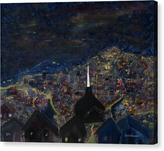 Above The City At Night Canvas Print