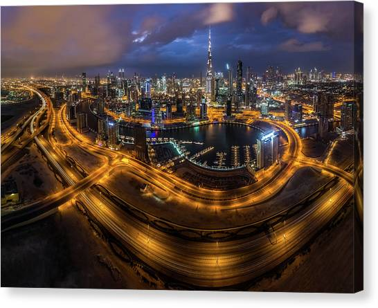 Bladerunner Canvas Print - Above The City by Khalid Jamal