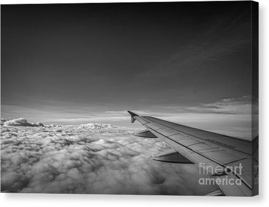 Above The Clouds Bw Canvas Print