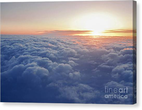 Cloud Canvas Print - Above The Clouds by Elena Elisseeva