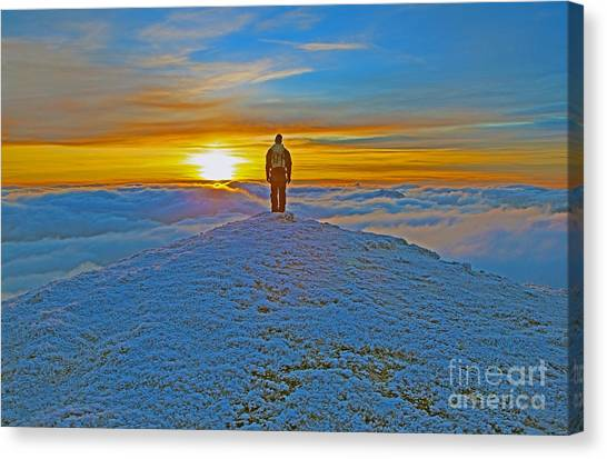 Above The Clouds Canvas Print by Lynne Sutherland
