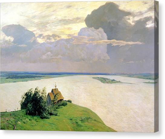 Orthodox Art Canvas Print - Above The Eternal Peace by Isaak Ilyich Levitan