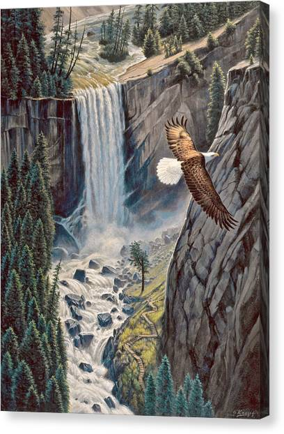 Waterfalls Canvas Print - Above The Falls - Vernal Falls by Paul Krapf