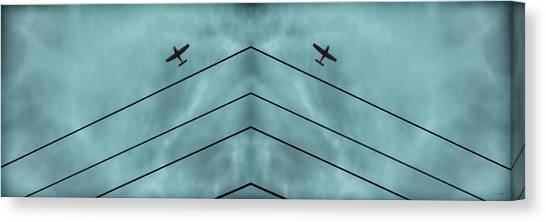 Above The Lines Blue Panorama Canvas Print by Tony Grider