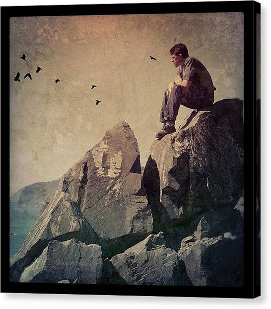 Men Canvas Print - Above The Pacific by Jill Battaglia
