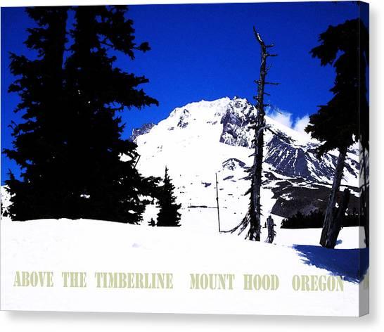 Above The Timberline  Mt Hood  Oregon Canvas Print