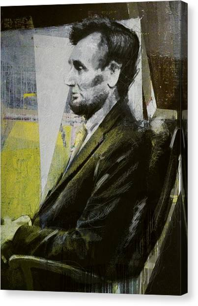 Republican Politicians Canvas Print - Abraham Lincoln 03 by Corporate Art Task Force