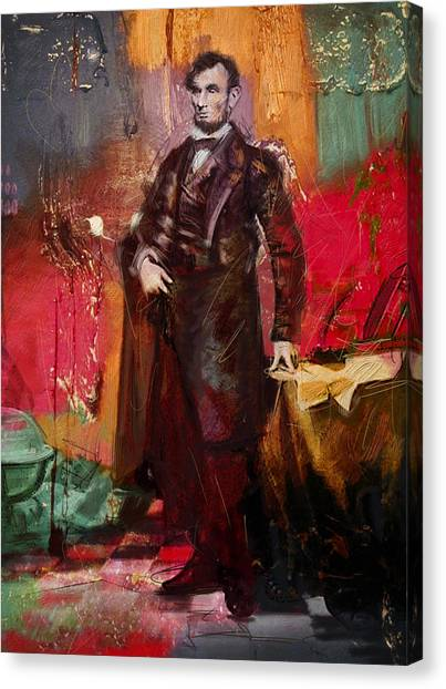 Republican Politicians Canvas Print - Abraham Lincoln 05 by Corporate Art Task Force