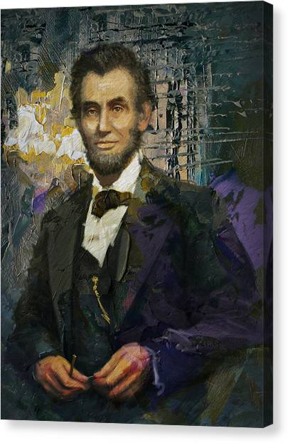 Republican Politicians Canvas Print - Abraham Lincoln 07 by Corporate Art Task Force