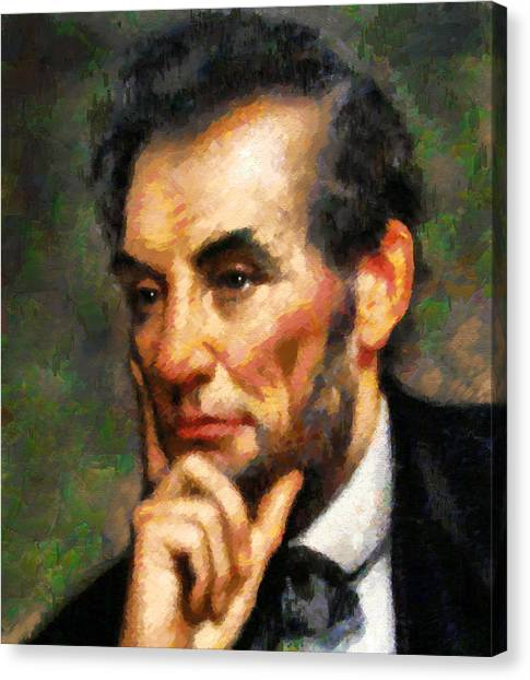 Abraham Lincoln - Abstract Realism Canvas Print