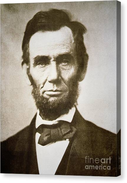 Slavery Canvas Print - Abraham Lincoln by Alexander Gardner