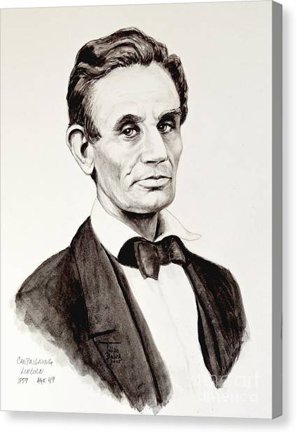 Abraham Lincoln At 49 Canvas Print