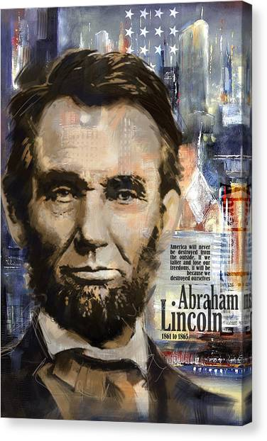 Republican Politicians Canvas Print - Abraham Lincoln by Corporate Art Task Force