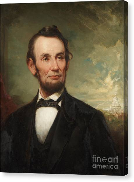 D.c. United Canvas Print - Abraham Lincoln  by George Henry Story