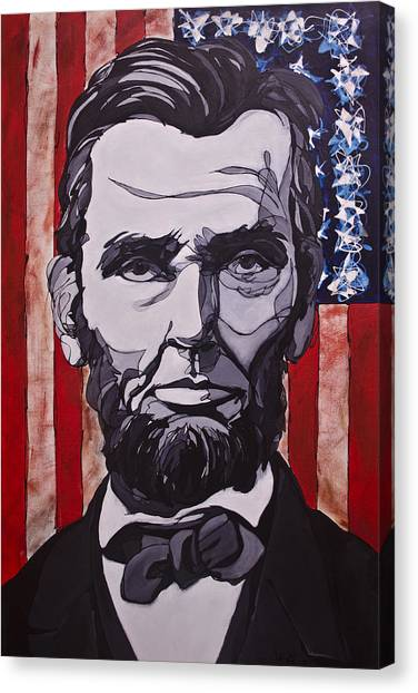 Canvas Print featuring the painting Abraham Lincoln by John Gibbs