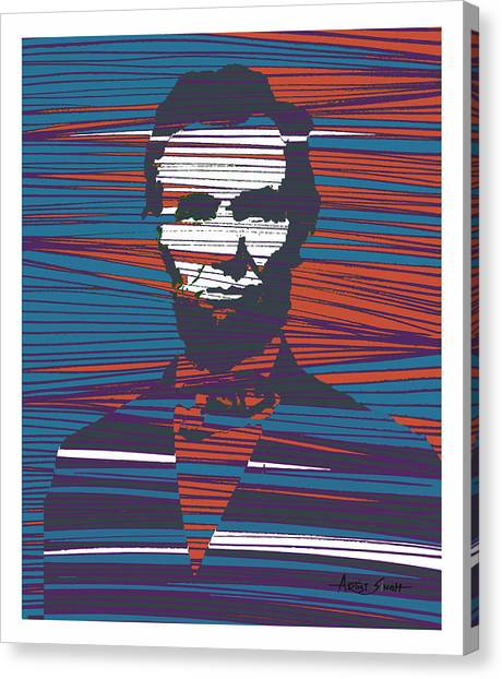 George W. Bush Canvas Print - Abraham Lincoln Poster by Real ARTIST SINGH