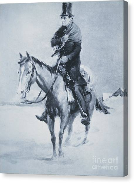 Republican Politicians Canvas Print - Abraham Lincoln Riding His Judicial Circuit by Louis Bonhajo
