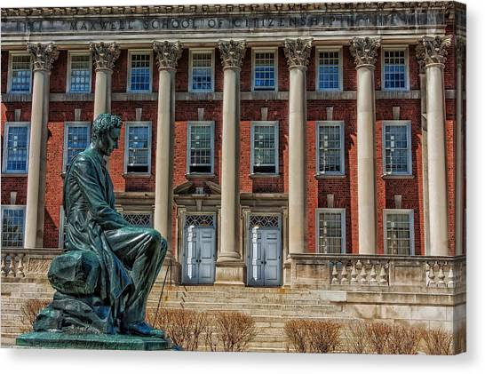 Syracuse University Canvas Print - Abraham Lincoln Statue - Syracuse University by Mountain Dreams