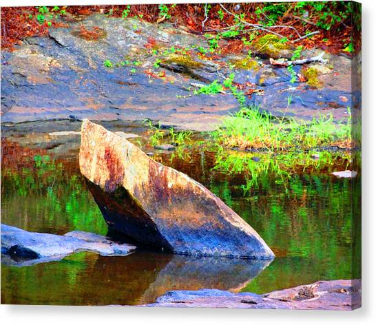 Abstact Rock				 Canvas Print