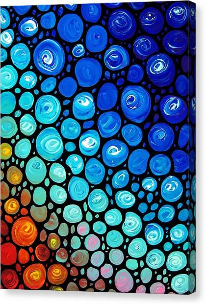 Mosaic Canvas Print - Abstract 2 by Sharon Cummings