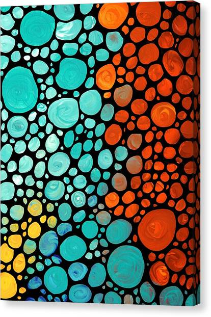 Buy Art Online Canvas Print - Mosaic Art - Abstract 3 - By Sharon Cummings by Sharon Cummings