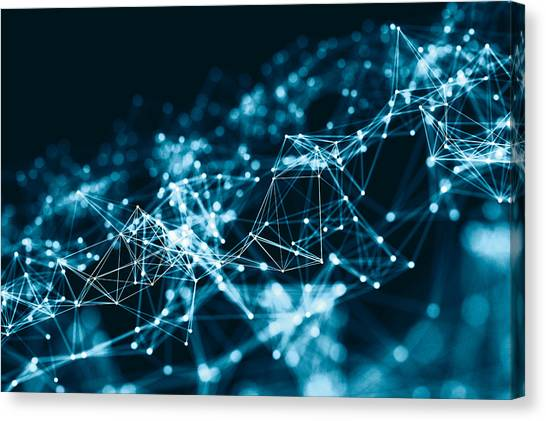 Abstract 3d Network In Future Canvas Print by From2015