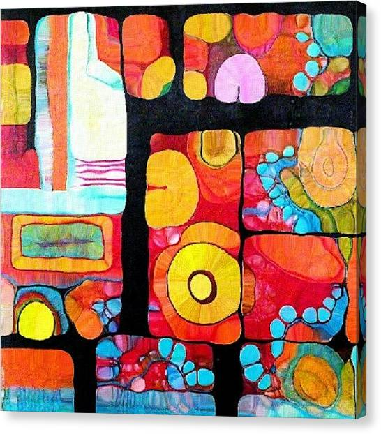 Robins Canvas Print - Abstract Acrylic by Robin Mead