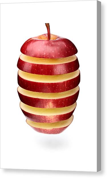 Apples Canvas Print - Abstract Apple Slices by Johan Swanepoel