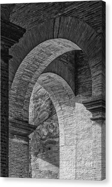 Abstract Arches Colosseum Mono Canvas Print