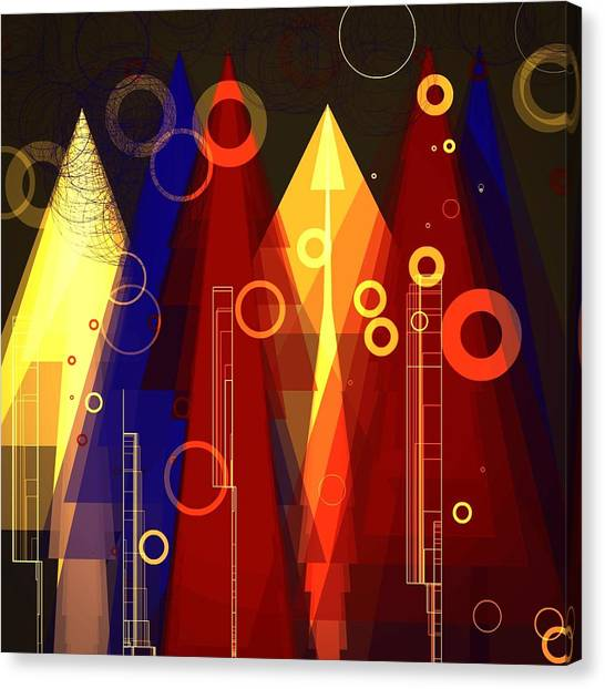 Abstract Art Deco Canvas Print