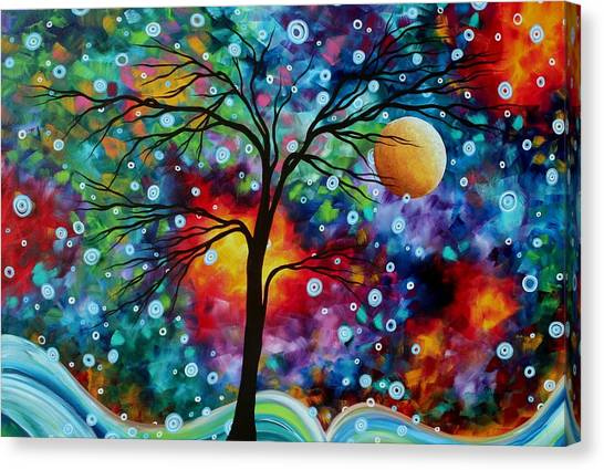 Canvas Print - Abstract Art Original Colorful Landscape Painting A Moment In Time By Madart by Megan Duncanson