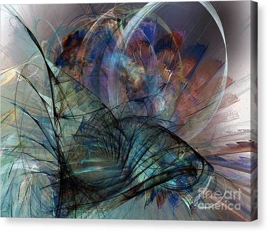 Abstract Art Print In The Mood Canvas Print