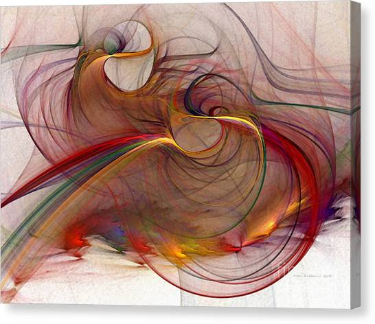 Abstract Art Print Inflammable Matter Canvas Print