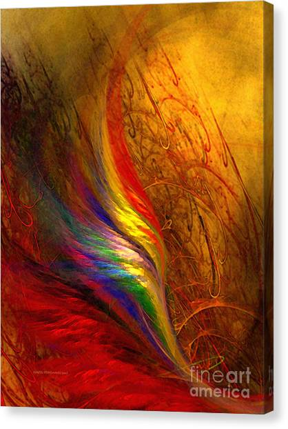 Abstract Art Print Sayings Canvas Print
