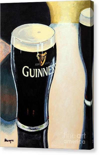 St. Patricks Day Canvas Print - Abstract Arthur by Alacoque Doyle