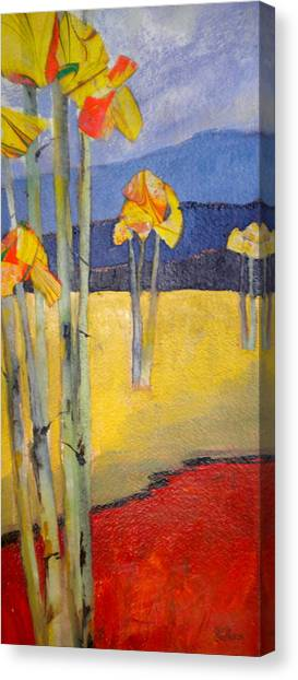Abstract Aspen Canvas Print by Sally Bullers