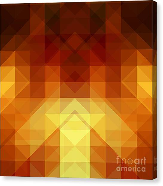 Background Canvas Print - Abstract Background From Triangle Shapes by Ksanagraphica
