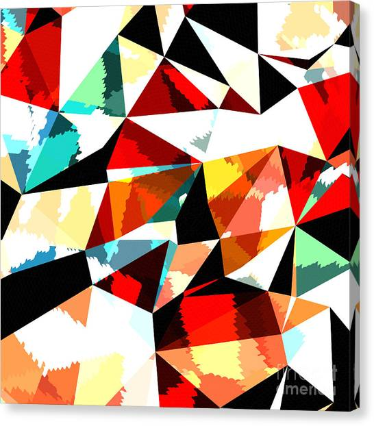 Sheet Canvas Print - Abstract Background With Triangles And by Romas photo