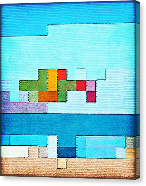 Minecraft Canvas Print - Abstract Beach by Gustav Boye