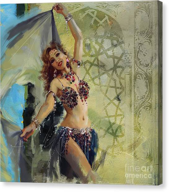 Abstract Belly Dancer 1 Canvas Print