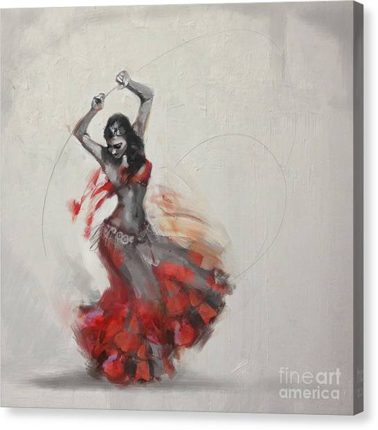 Abstract Belly Dancer 21 Canvas Print