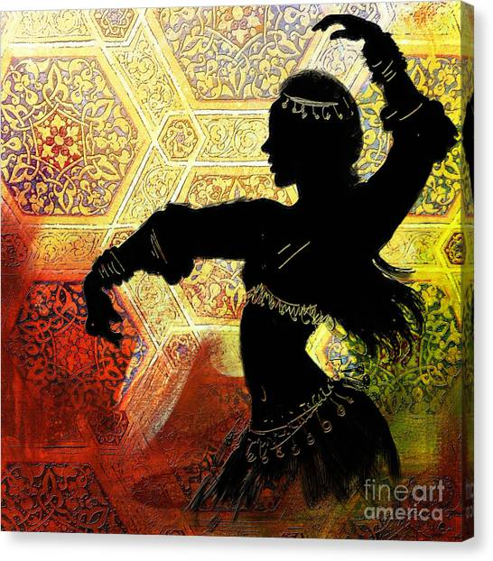 Abstract Belly Dancer 3 Canvas Print