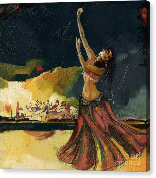 Abstract Belly Dancer 5 Canvas Print