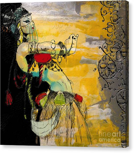 Abstract Belly Dancer 6 Canvas Print