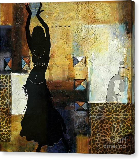 Abstract Belly Dancer 7 Canvas Print