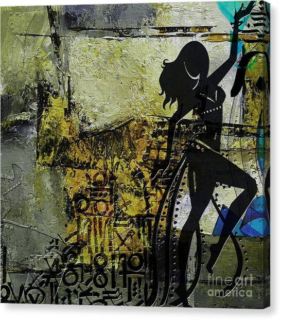 Abstract Belly Dancer 8 Canvas Print