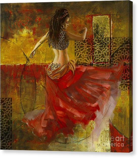 Abstract Belly Dancer 9 Canvas Print