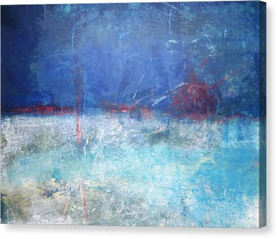 Abstract Blue Horizon Canvas Print